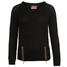 Lee Cooper Hem női cipzáras kötött pulóver fekete XS