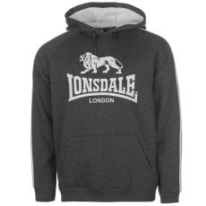 Lonsdale 2 Stripe férfi kapucnis pulóver fehér L