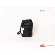 262 Fekete bőr autós táska csuklópánttal álló kivitel