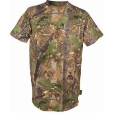 Jack Pyke JTEECAM T-shirt Short Sleeve Vadász pamut Póló - English Oak Camo/Terepmintás