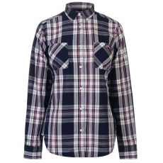 Lee Cooper női ing - sötétkék/pink - Lee Cooper Long Sleeve Check Shirt Ladies