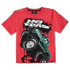No Fear gyerek póló - Red Monster - No Fear Moto Graphic T Shirt Junior Boys
