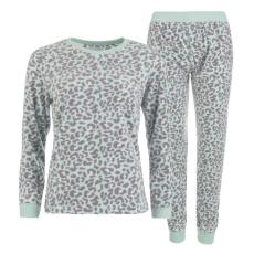 Rock and Rags női pizsama szett - menta - Rock and Rags Printed Fleece Pyjamas