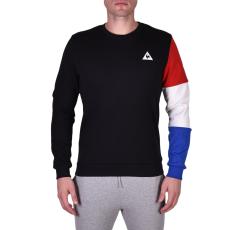 Le Coq Sportif Tri Sp Bbr Cotontech Crew Sweat férfi kapucnis pulóver fekete L