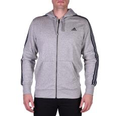 Adidas Ess 3s Fz B férfi kapucnis cipzáras pulóver szürke M