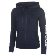 Adidas női cipzáras pulóver - adidas Linear FZ Hoody - sötétkék