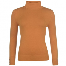 Full Circle Roll Neck női pulóver sárga XL
