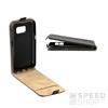 Flip szilikon belső Flip tok szilikon belsővel, Huawei Y7, fekete