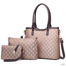 Barna Miss Lulu London LT1749 BN - Miss Lulu három darab bevásárló táska válltáska táska és Táska Clutch barna