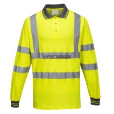 Portwest S271 Cotton Comfort jól láthatósági pólóing - hosszú ujjú