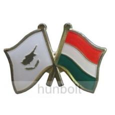 Kitűző, páros zászló Ciprus -Magyar jelvény 26x15 mm