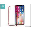 Devia Apple iPhone X szilikon hátlap - Devia Glitter Soft - red/transparent