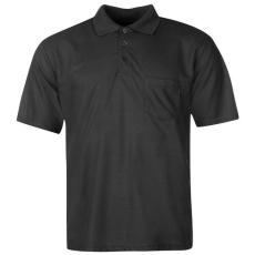 Donnay férfi galléros póló, Fekete - Donnay Pocket Polo Shirt Mens