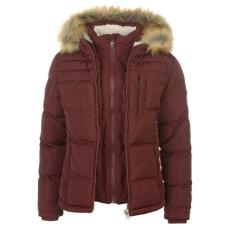 SoulCal női kabát - SoulCal 2 Zip Bubble Jacket - burgundi