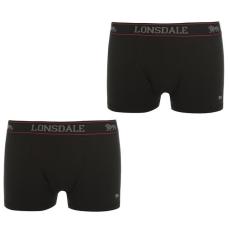 Lonsdale férfi boxeralsó 2db/csomag, Fekete - Lonsdale 2 Pack Trunk Mens