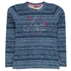 Lee Cooper gyerek hosszú ujjú felső - kék - Lee Cooper Girls Long Sleeve Tshirt