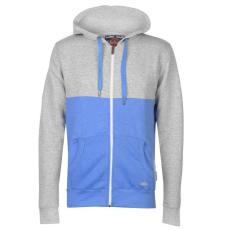 Lee Cooper Colour Block férfi kapucnis cipzáras pulóver kék XL