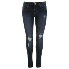 Firetrap női farmernadrág - Firetrap Slim Fit Jeans - Dark Wash Rip