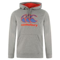 Canterbury Logo férfi kapucnis pulóver sötétszürke XXL
