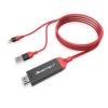 Apple Iphone HDMI adapter - HDMI átalakító lightning kábel Iphone 5 5S 5C 6 6S 6 Plus + 7 7 Plus 8 8 Plus Iphone X Ipad Pro Air Mini - MHL Slimport