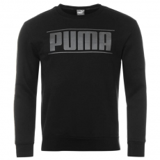 Puma Rebel Tape férfi kerek nyakú pulóver fekete M