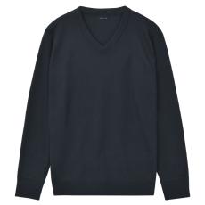 vidaXL V-nyakú férfi pulóver/szvetter sötétkék, XL-es