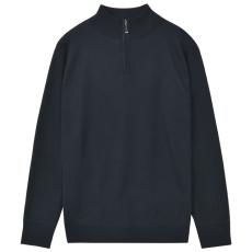 vidaXL cipzáros férfi pulóver sötétkék XL