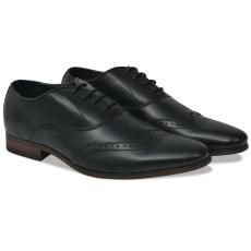 vidaXL Férfi fűzős alkalmi félcipő fekete 42-es méret PU bőr