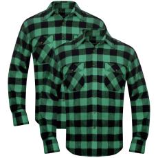 vidaXL 2 db kockás férfi ing méret XXL zöld-fekete