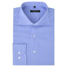 vidaXL Fehér és világoskék XXL méretű férfi üzleti ing