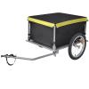vidaXL kerékpár utánfutó fekete és sárga 65 kg