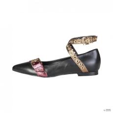 Made In Italia készült Italia női balerina lapostalpú cipő ANLLA_fekete-MELANZ-BRONZO