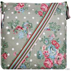 Miss Lulu London L1104F - Miss Lulu szögletes táska Flower Polka Dot szürke