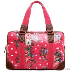 Miss Lulu London L1106F - Miss Lulu Oilcloth utazó táska virágos Dot Plum