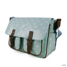 Miss Lulu London L1107D2 - Miss Lulu Oilcloth táska Polka Dot világos kék