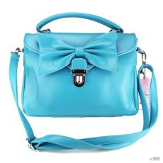 Miss Lulu London L1131 - Miss Lulu Bow Envelope kézi táska kék