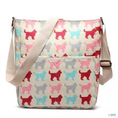 Miss Lulu London LC1645NDG - Miss Lulu kicsimattte Oilcloth szögletes táska Dog