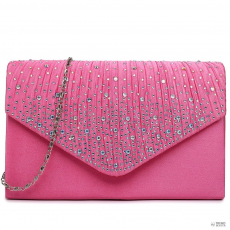 Miss Lulu London LY1682 - Miss Lulu Structupirosgyémánt pöttyded Envelope Táska Clutch táska Plum