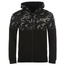 Puma férfi cipzáras pulóver - fekete - Puma Rebel AOP Full Zip Hoodie