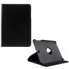 utángyártott Samsung Galaxy Tab S3 9.7 LTE (SM-T825) - Tok álló, bõr (FLIP, asztali tartó funkció, 360°-ban forgatható) FEKETE