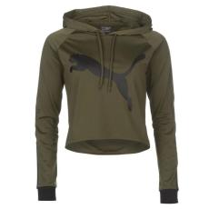 Puma női kapucnis pulóver - Puma Tape Crop Hoody - oliva