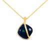 Arannyal bevont exkluzív nyaklánc smaragdzöld Swarovski kristállyal + AJÁNDÉK DÍSZDOBOZ (0764.)