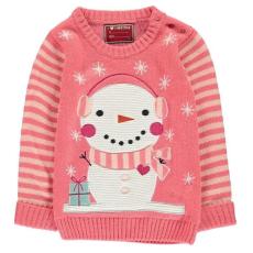 Star Xmas kisgyermek pulóver - hóember - Star Xmas Jumper Infant Girls