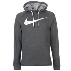 Nike férfi pulóver - Nike Dry Swoosh Hoody Mens Charcoal