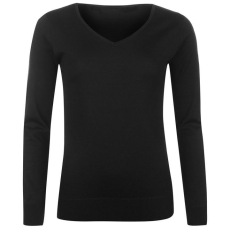 Lee Cooper Essential Soft női V nyakú pulóver fekete XS