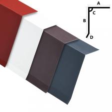 5 db L-alakú fehér alumínium tetőszegélylemez 170 cm építőanyag
