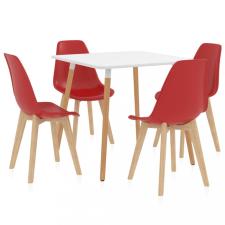 5 részes piros étkezőszett bútor