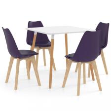 5 részes sötétlila étkezőszett bútor
