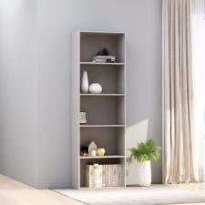 5-szintes szürke forgácslap könyvszekrény 60 x 30 x 189 cm bútor