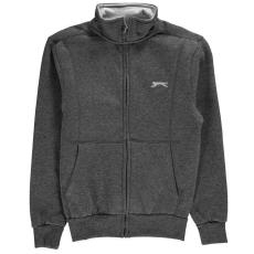 Slazenger gyerek cipzáras pulóver - Slazenger Full Zip Hoody Junior Charcoal